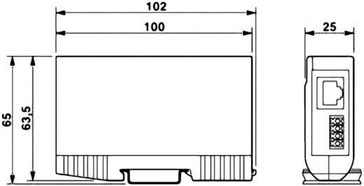 Phoenix Contact 2801593 Überspannungsschutz-Zwischenstecker Überspannungsschutz für: Verteilerschrank, Netzwerk (RJ45)