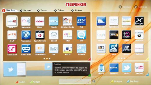 LED-TV 127 cm 50 Zoll Telefunken A50F446A EEK A+ DVB-T2, DVB-C, DVB-S, Full HD, Smart TV, WLAN, CI+ Schwarz