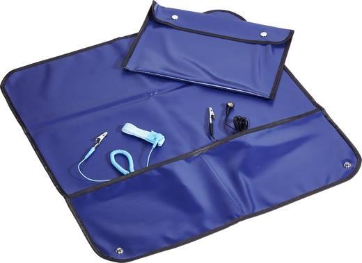 Conrad Components ESDM-600600RD ESD-Service-Set Dunkel-Blau (L x B) 60 cm x 60 cm inkl. Erdungskabel, inkl. Erdungsarmba