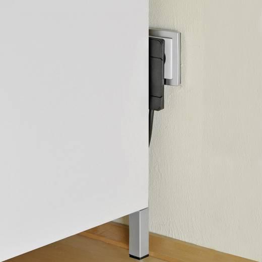 NVB 104877 Schutzkontakt-Flachstecker 230 V Weiß, Carbon IP20