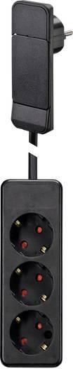 NVB 104551 Steckdosenleiste ohne Schalter Schwarz Flachstecker