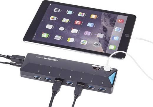 7+2 Port USB 3.0-Hub mit Schnellladeport, mit Status-LEDs ...