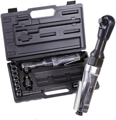 "Cricchetto reversibile ad aria compressa 1/2"" (12.5 mm) 6.3 bar Aerotec incl. valigia"