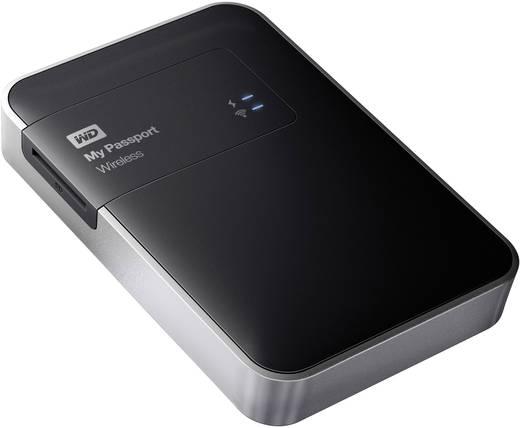 WLAN-Festplatte 1 TB Western Digital My Passport Wireless Schwarz WDBK8Z0010BBK-EESN WLAN-fähig, Cloud-fähig, DLNA-fähig