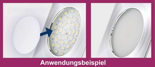 LED-Bad-Einbauleuchte 3er Set 15 W Warm-Weiß Briloner 7204-036 Weiß