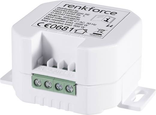 RS2W Funk-Schalter Unterputz 1-Kanal Schaltleistung (max.) 2000 W Reichweite max. (im Freifeld) 150 m
