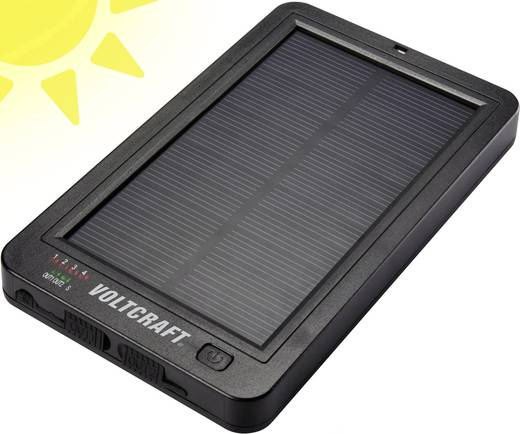 VOLTCRAFT SL-5 Solar Powerbank Li-Ion 6000 mAh