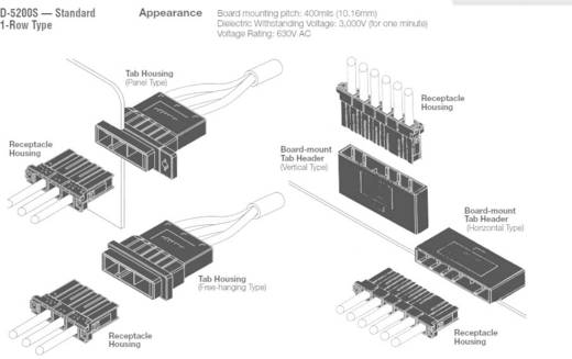 TE Connectivity Buchsengehäuse-Kabel DYNAMIC 5000 Series Polzahl Gesamt 6 2-179958-6 1 St.
