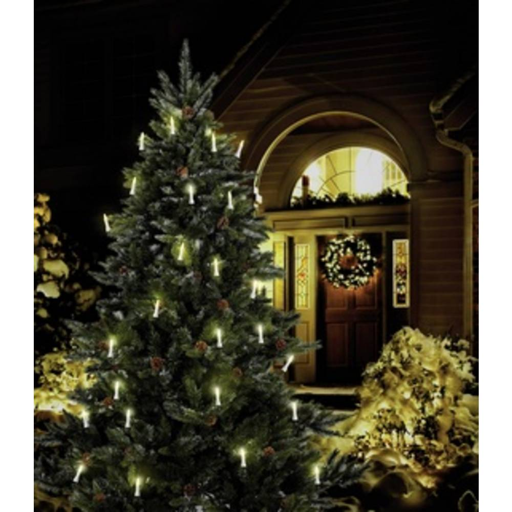 weihnachtsbaum beleuchtung au en netzbetrieben 16 led warm. Black Bedroom Furniture Sets. Home Design Ideas