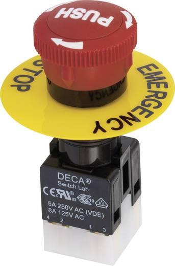 DECA ADA16E6-R22-D10R Not-Aus-Schalter 250 V/AC 5 A 1 Öffner, 1 Schließer IP65 1 St.