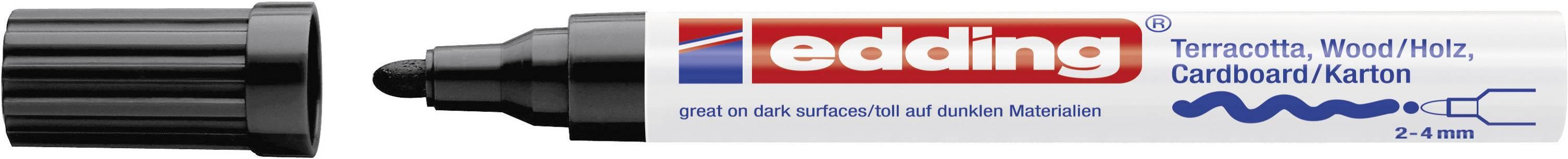 4mm 1 St.//Pack Edding Deco Marker E-4000 4-4000001 Schwarz 2 mm