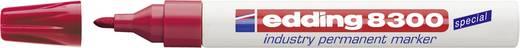 Edding Permanentmarker edding 8300 industry permanent marker Rot wasserfest: Ja 4-8300002
