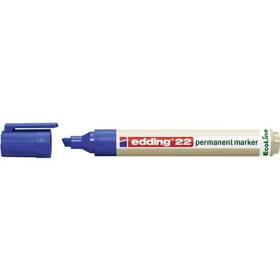 Edding edding 22 permanent marker EcoLine 4-22003 Permanentmarker Blau wasserfest: Ja Preisvergleich