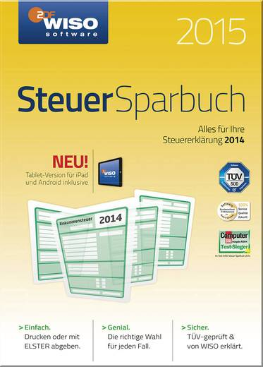 WISO Steuer Sparbuch 2015 Vollversion, 1 Lizenz Windows Finanz-Software