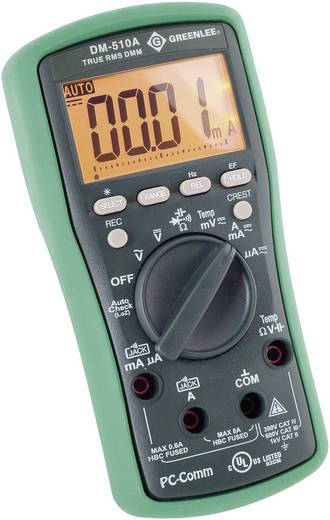 Hand-Multimeter digital Greenlee DM-510A Kalibriert nach: ISO CAT II 1000 V, CAT III 600 V Anzeige (Counts): 6000