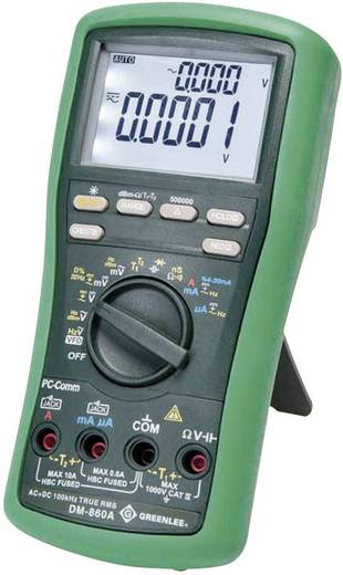 Hand-Multimeter digital Greenlee DM-860A Kalibriert nach: Werksstandard (ohne Zertifikat) CAT IV 1000 V Anzeige (Counts