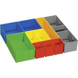 Vložka do kufříku na součástky Bosch Professional, 1600A001S6, přihrádek: 10, zelená, modrá, žlutá, oranžová, červená, šedá