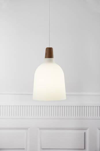 Pendelleuchte Halogen, LED E27 12 W Nordlux Karma 78343012 Weiß, Walnuss