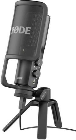 USB studiový mikrofon kabelový RODE Microphones NT USB, vč. kabelu a stojanu
