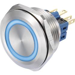 Tlačidlový spínač TRU COMPONENTS GQ30-11E/B/12V, 250 V/AC, 3 A, oceľová, 1 ks