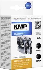 KMP Encre remplace Brother LC-123 compatible lot de 2 noir