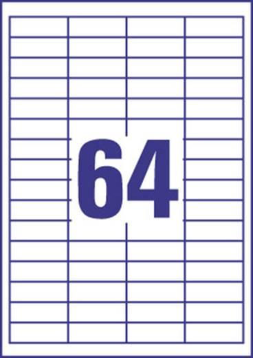Europe 100 ELA050 Etiketten (A4) 48.5 x 19.9 mm Papier Weiß 6400 St. Permanent Universal-Etiketten Tinte, Laser, Kopie