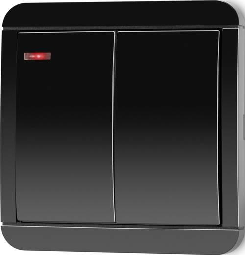rs2w funk wandschalter aufputz 2 kanal reichweite max im. Black Bedroom Furniture Sets. Home Design Ideas