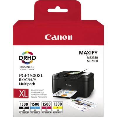 Canon Tintenpatrone PGI-1500 XL BKCMY Original Kombi-Pack Schwarz, Cyan, Magenta, Gelb 918 Preisvergleich