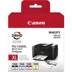 Sada náplní do tlačiarne Canon PGI-1500 XL BKCMY 9182B004, čierna, zelenomodrá, purpurová, žltá