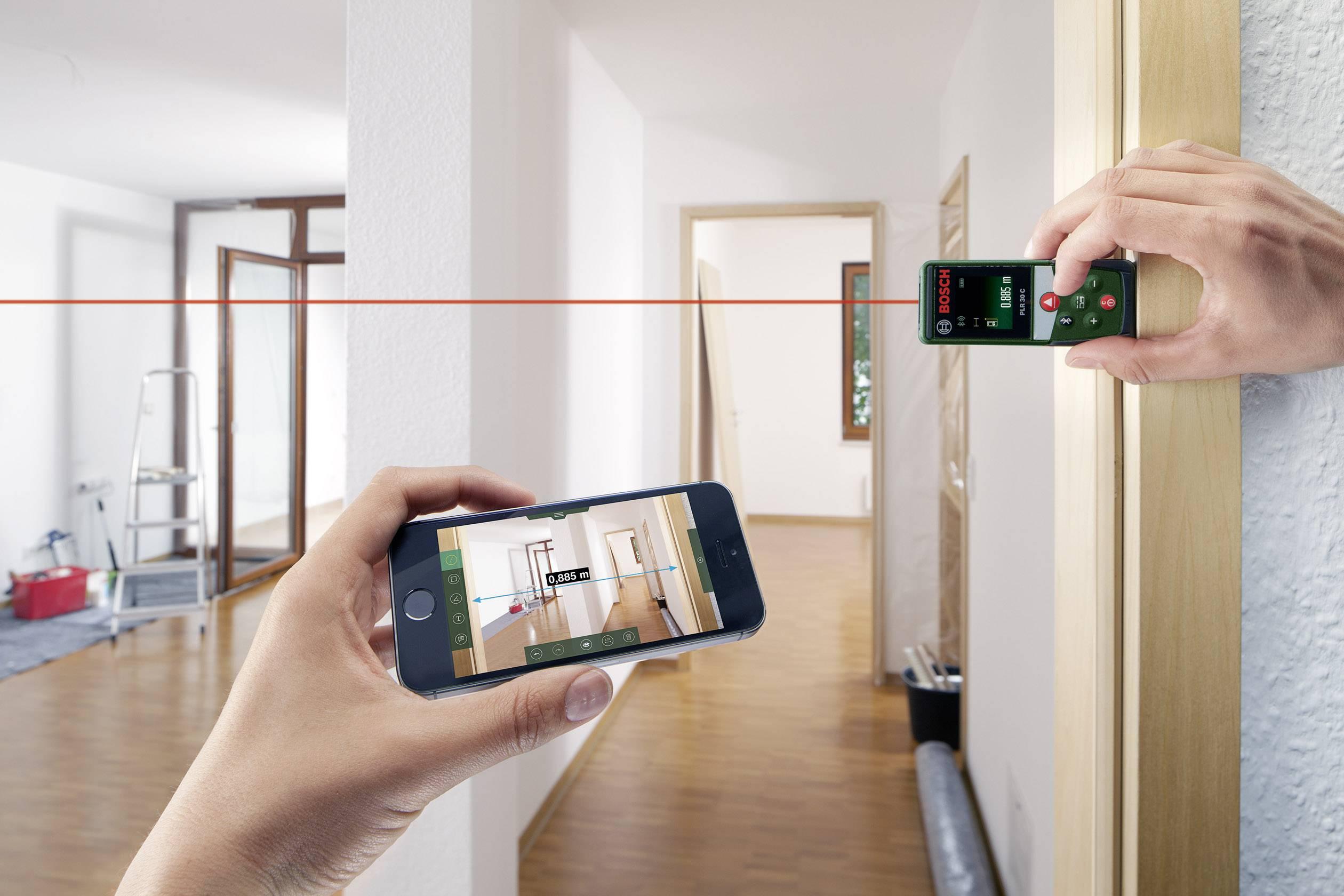 Bosch Entfernungsmesser Plr 25 : Bosch home and garden plr c laser entfernungsmesser bluetooth
