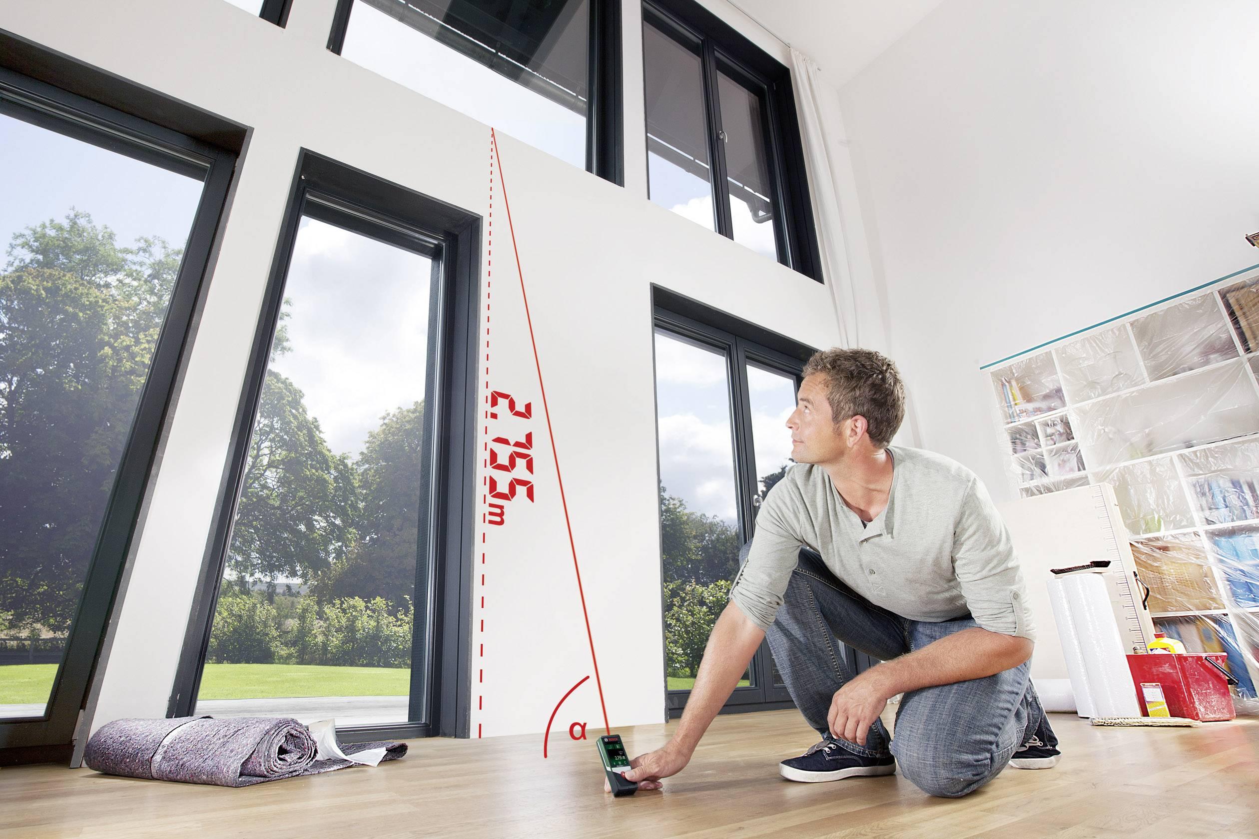 Bosch home and garden plr c laser entfernungsmesser touchscreen
