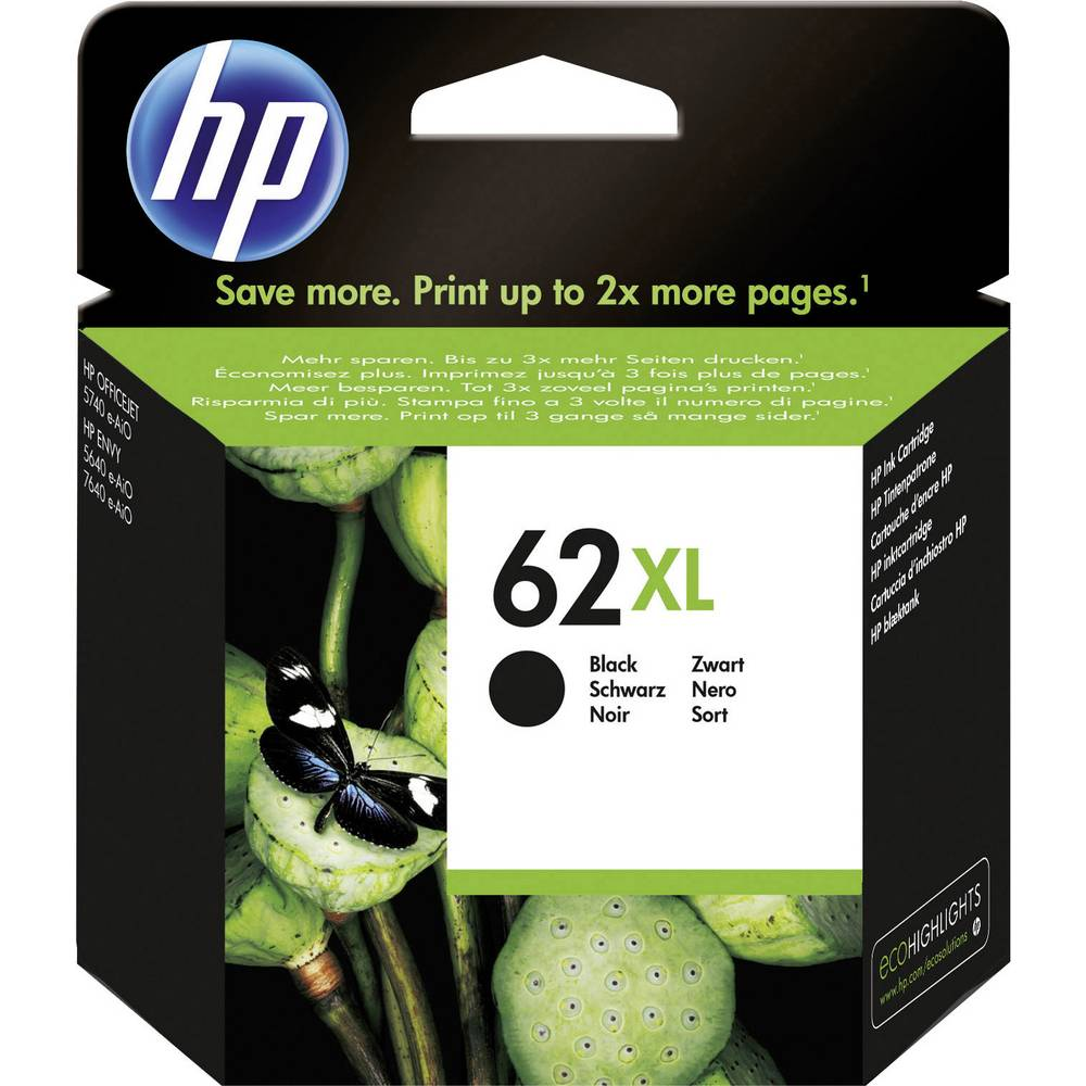 HP Cartridge 62 XL Origineel Zwart C2P05AE Cartridge