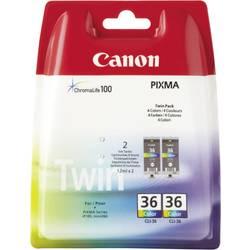 Sada 2 ks. náplní do tlačiarne Canon CLI-36 1511B018, zelenomodrá, purpurová, žltá