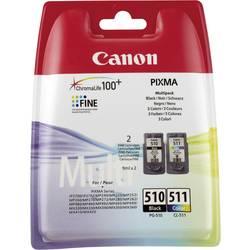 Sada náplní do tlačiarne Canon PG-510 / CL-511 2970B010, čierna, zelenomodrá, purpurová, žltá