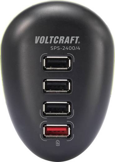 USB-Ladegerät Steckdose VOLTCRAFT SPS-2400/4 Ausgangsstrom (max.) 2500 mA 4 x USB