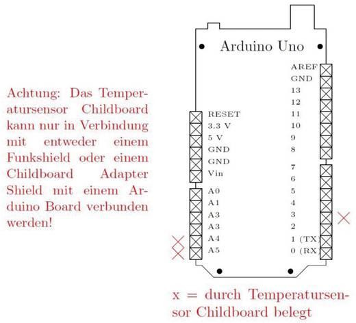 LXRobotics Sensor Temperatursensor Childboard Passend für (Arduino Boards): Arduino