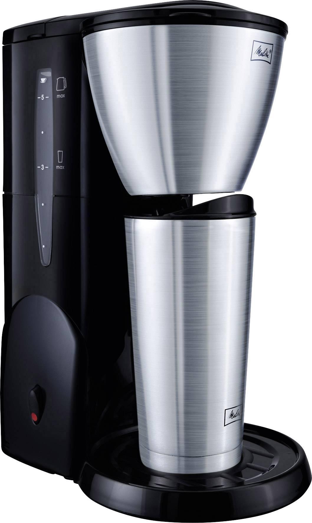 Isolierkanne 5 Melitta EdelstahlgebürstetSchwarz Single Kaffeemaschine Tassen Therm Fassungsvermögen 5 lK1JFc