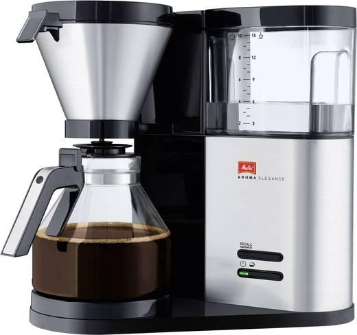 Kaffeemaschine Melitta Aroma Elegance Edelstahl (gebürstet), Schwarz Fassungsvermögen Tassen=10