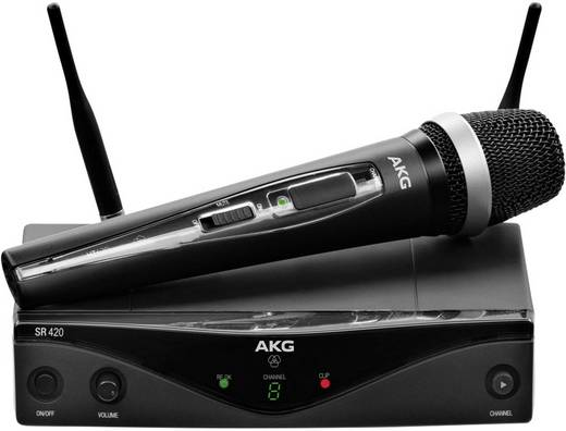 Funkmikrofon-Set AKG WMS420 VOCAL SET D 5 M-BAND Übertragungsart:Funk