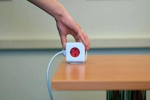 Segula 50461 Steckdosenwürfel 5fach Weiß, Rot Schutzkontakt