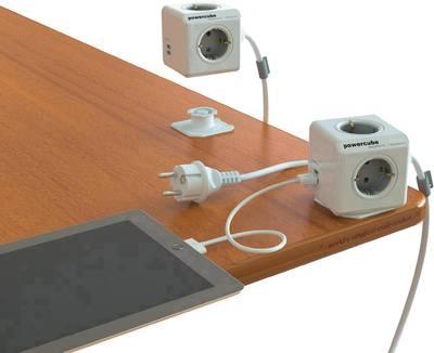 Steckdosenwürfel mit USB