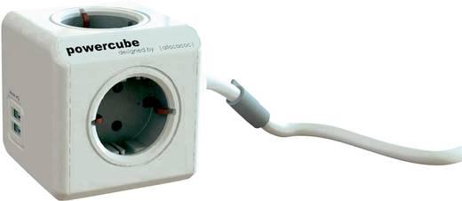 Segula Steckdosenwürfel Steckdose Powercube 3 m USB grau Weiß, Grau