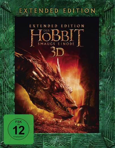 blu-ray 3D Der Hobbit - Smaugs Einöde (+2D Blu-ray) - Extended Edition FSK: 12