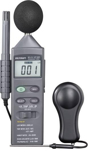 VOLTCRAFT DT 8820 Temperatur-Messgerät -20 bis +750 °C Fühler-Typ K Multifunktions-Umweltmessgerät 4in1 Kalibriert nach: