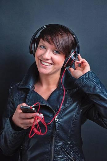 Klinke Audio Anschlusskabel [1x Klinkenstecker 3.5 mm - 1x Klinkenstecker 3.5 mm] 1.50 m Rot vergoldete Steckkontakte Oe