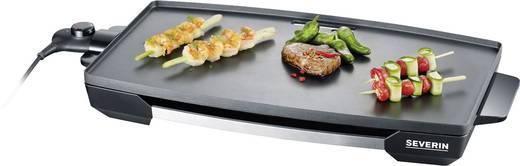 Tisch Elektro-Grill Severin KG 2397 mit manueller Temperatureinstellung Edelstahl (gebürstet), Schwarz