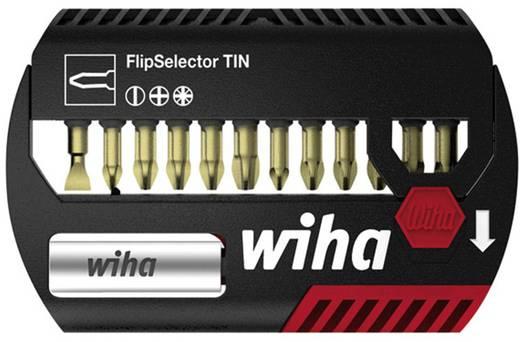 Bit-Set 13teilig Wiha FlipSelector 39052 Schlitz, Kreuzschlitz Phillips, Kreuzschlitz Pozidriv Torsionszone