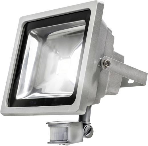LED-Außenstrahler mit Bewegungsmelder 50 W Kalt-Weiß as - Schwabe 46908 Silber