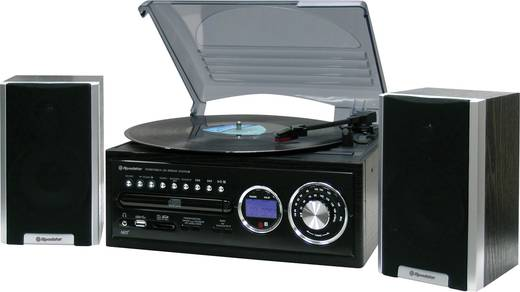 Stereoanlage Roadstar HIF-8888TUMPN CD, SD, USB, MW, Plattenspieler, UKW, Schwarz