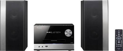 Stereoanlage Pioneer X-PM12 AUX, Bluetooth®, CD, USB, UKW, 2 x 38 W Schwarz, Silber
